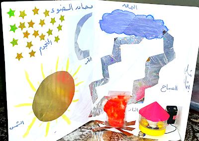 المشروع العلمي الأول لطفلة من أطفال تفنن مصادر الضوء