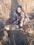 Kyle, with the first yote called in with his dad Brad