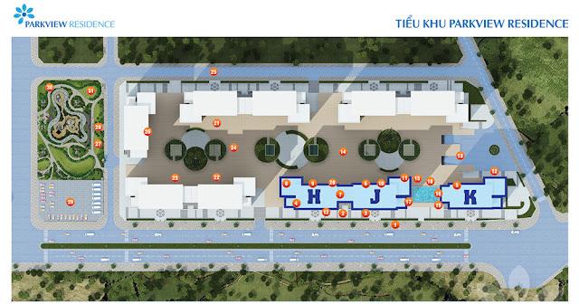 Mặt bằng dự án chung cư Park View Residence