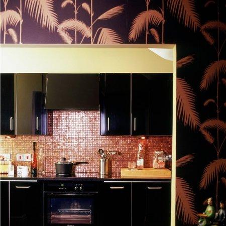 Vintage home decora con papel tapiz tu cocina - Papel para pared de cocina ...