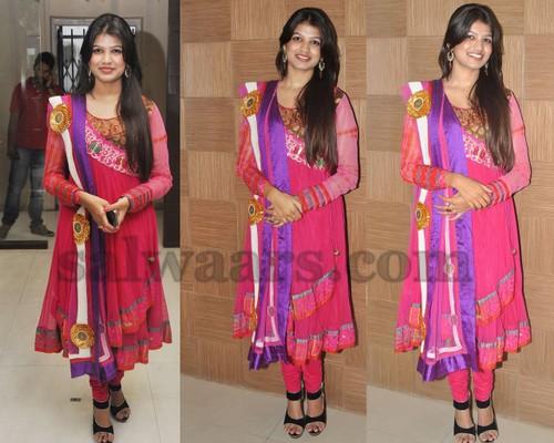 Isha Agarwal Pink Salwar