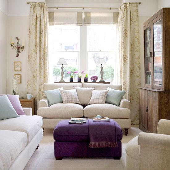 Neutral Coloured Living Room - J ohn Lewis Paints