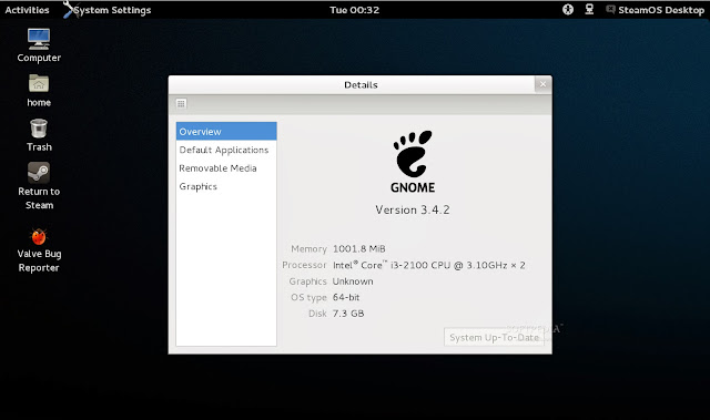 steamos gnome details