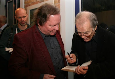Abel Doering mit Volker Braun, Foto: Dagmar Parkner