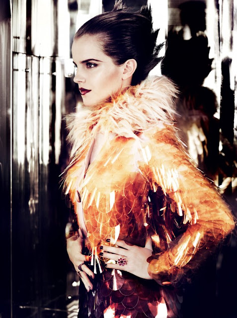 emma watson vogue july 2011 cover. hairstyles Emma Watson Vogue