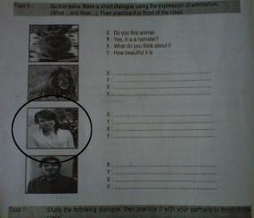 Waduh! ada foto miyabi di buku pelajaran lks sekolah