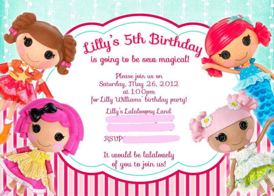 Where The Mermaids Murmur...: Lilly\'s Lalaloopsy Birthday!
