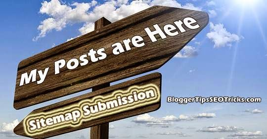submit blogger sitemap to google, bing and yahoo