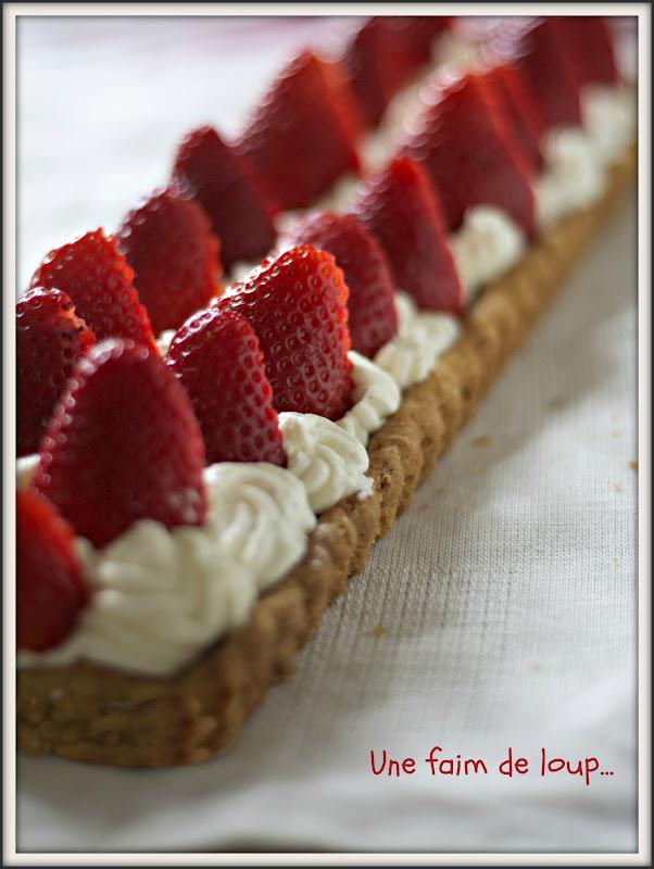 Une faim de loup tarte aux fraises sabl breton mascarpone - Fond de tarte palet breton ...