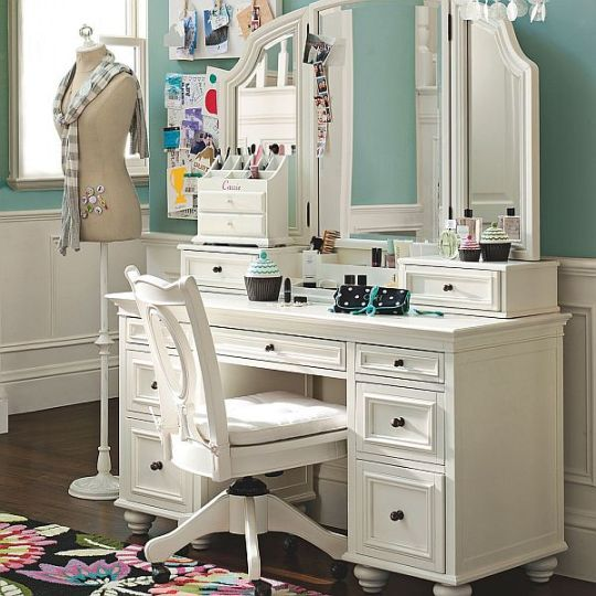Bedroom Vanities: A new Females Best Buddy Dreams House Furniture - Bedroom Makeup Vanity