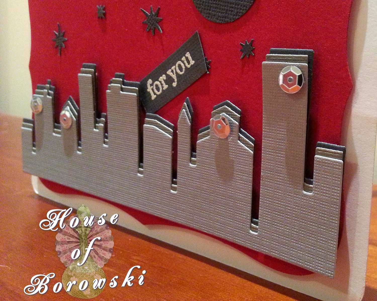 House of Borowski, memory box cityscape silhouette,allison ellis design,spellbinders label 8.