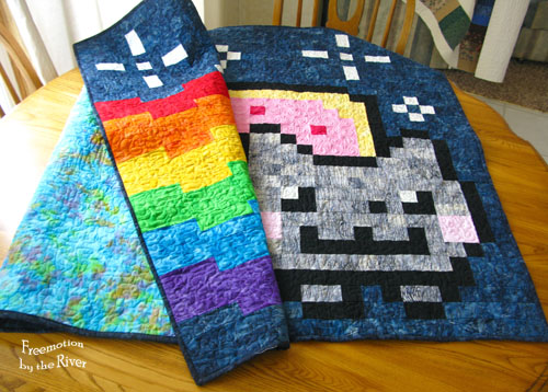 Nyan Cat quilt at Freemotion by the River