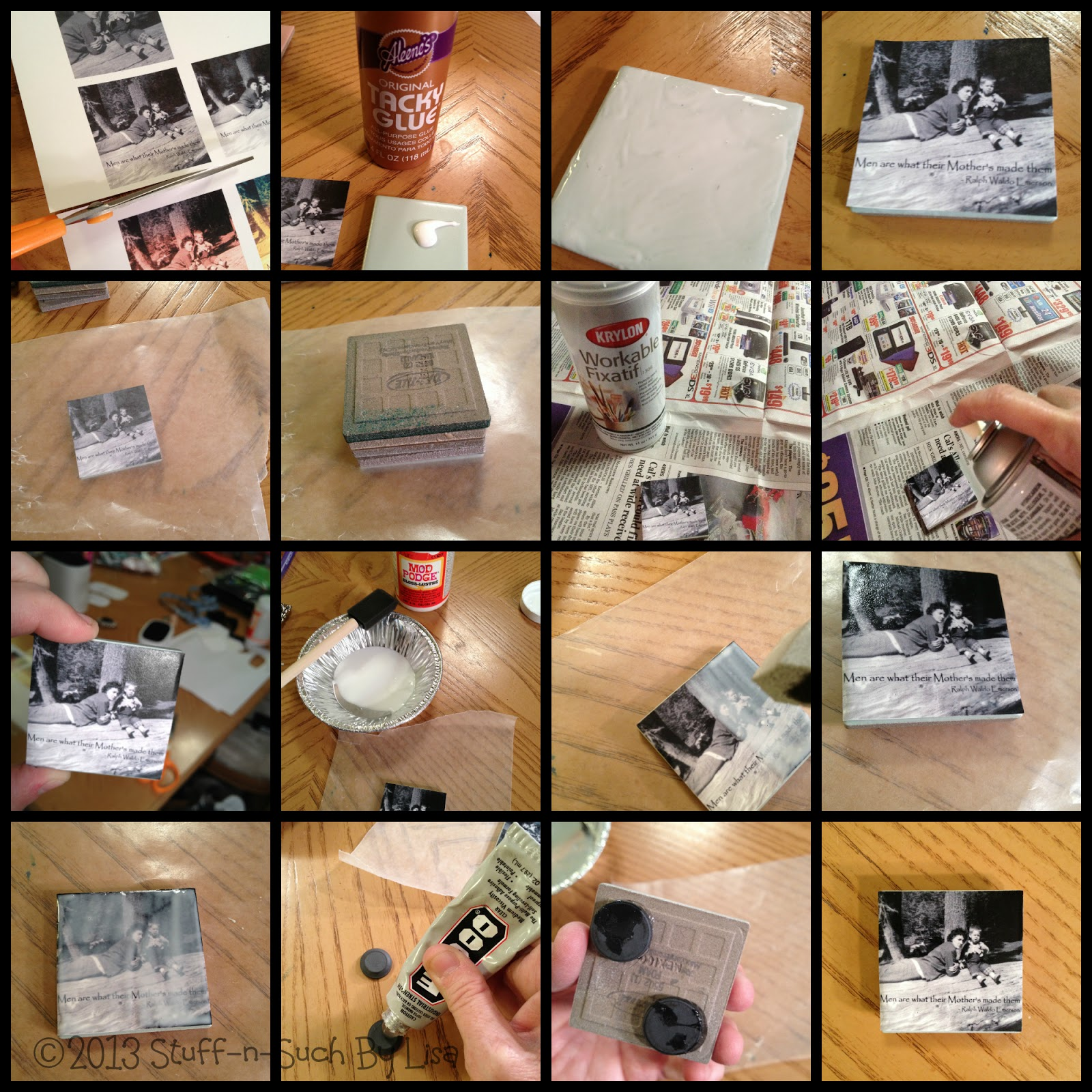 Stuff n such by lisa 15 minute craft ceramic tile photo magnet stuff n such by lisa dailygadgetfo Images