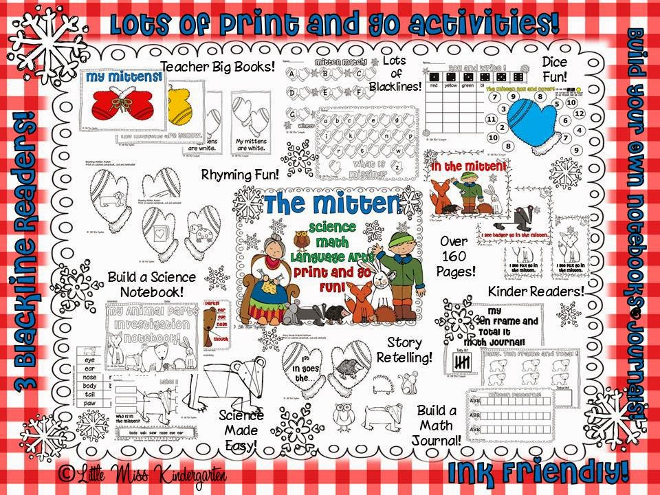 http://www.teacherspayteachers.com/Product/The-Mitten-Print-and-Go-Fun-479235
