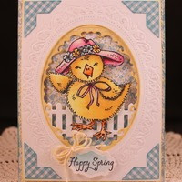 Stamps North Coast Creations Easter Bonnet Chick- Designer Cathy McCauley