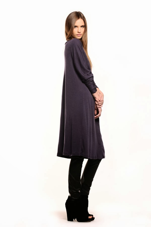 Comodo Wool Buttoned Tunic - Women's Fashion, White Background Studio Photography by Kent Johnson.