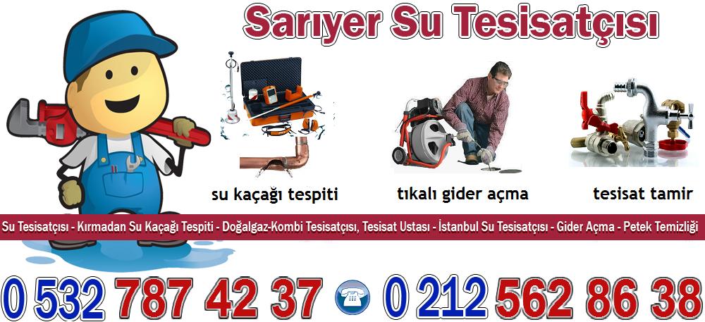 Sarıyer Su Tesisatçı | İstanbul | Kırmadan Su Kaçağı | Robotla Gider Açma