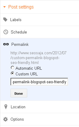 Custom Permalink Blogspot Lebih SEO Friendly