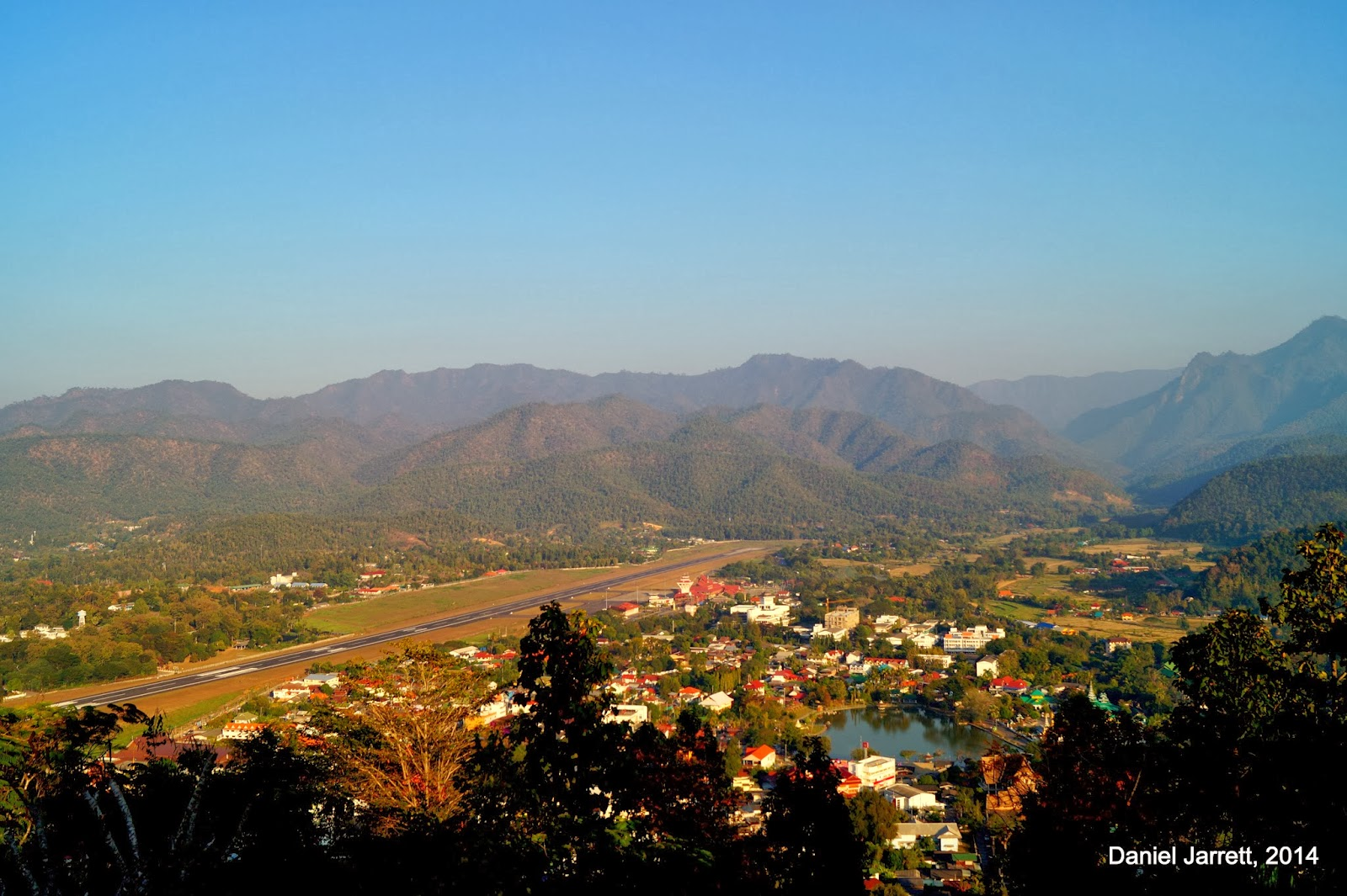 Mae Hong Song from above