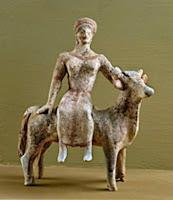 Terracota procedente de  Beotia. s. V a.C. Museo Archaeologico Regionale Eoliano, Lipari ,  Italy