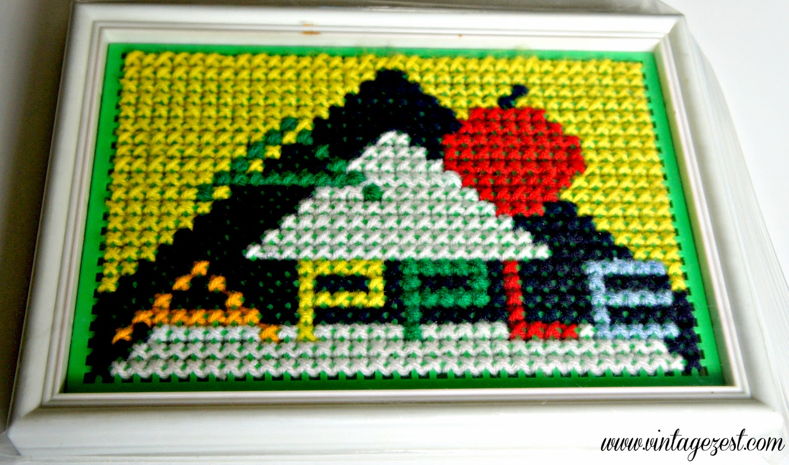 Craft Rewind: Cross-Stitching on Diane's Vintage Zest!