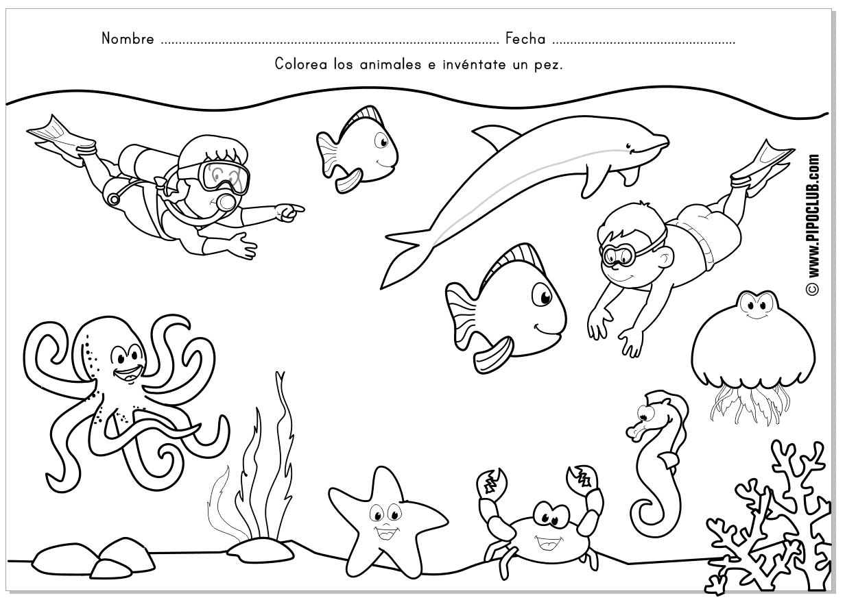 Animales Del Mar Para Ninos