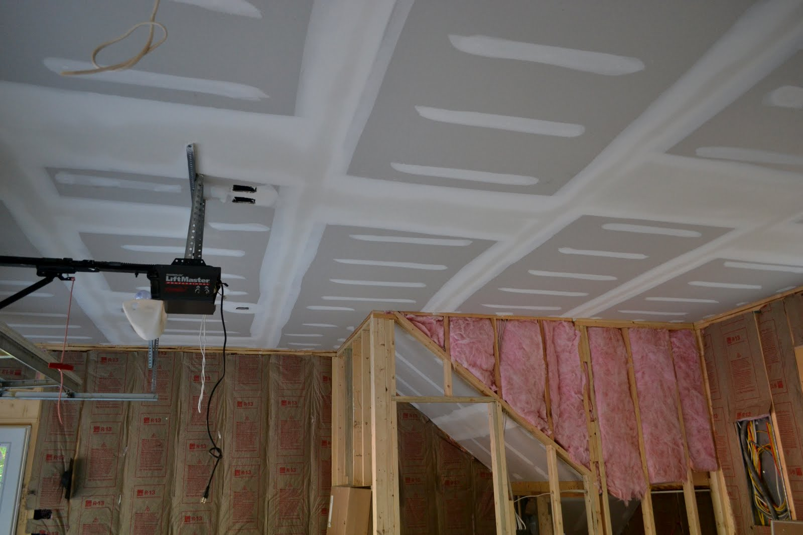 A work in progress are you serious the drywall is done for Bathroom drywall code