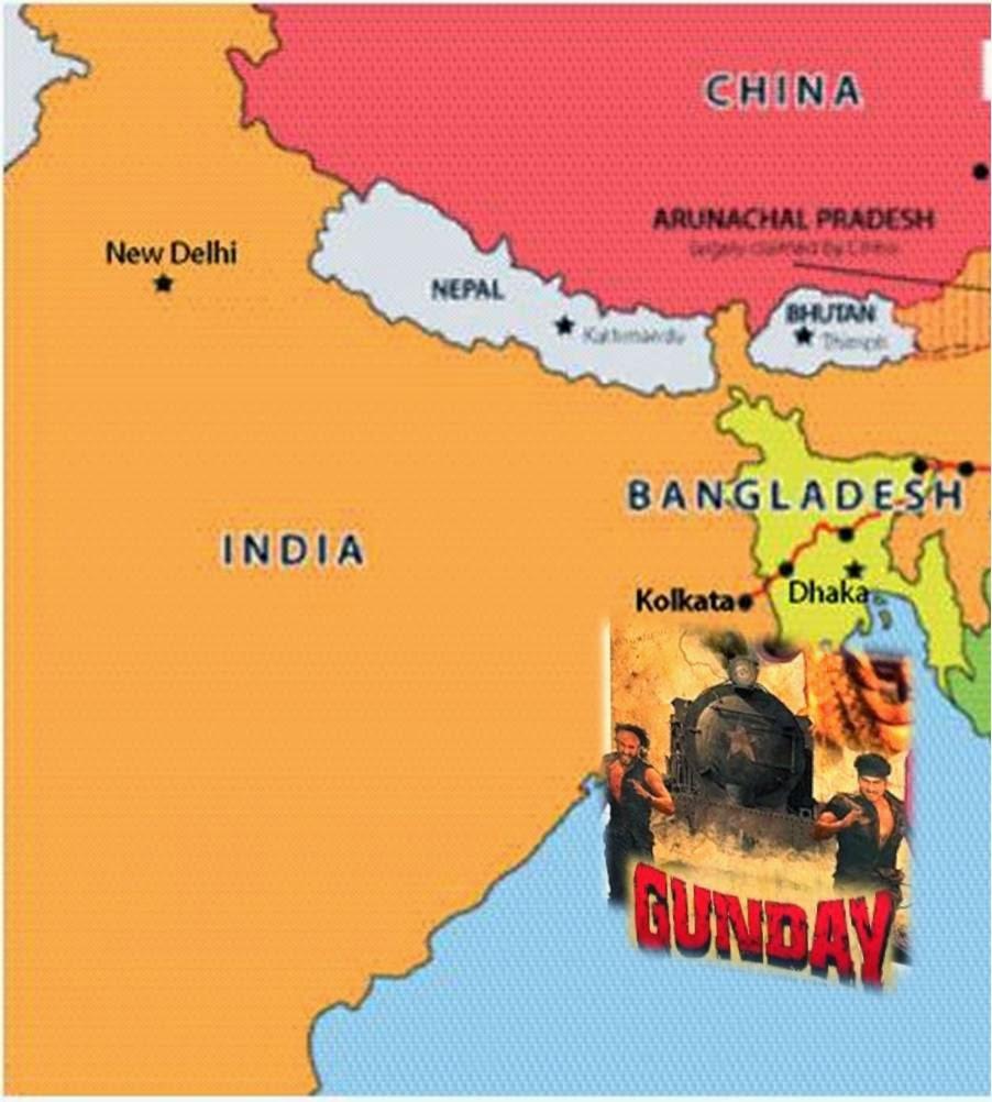 Gunday movie in land of Kolkata and Bangladesh