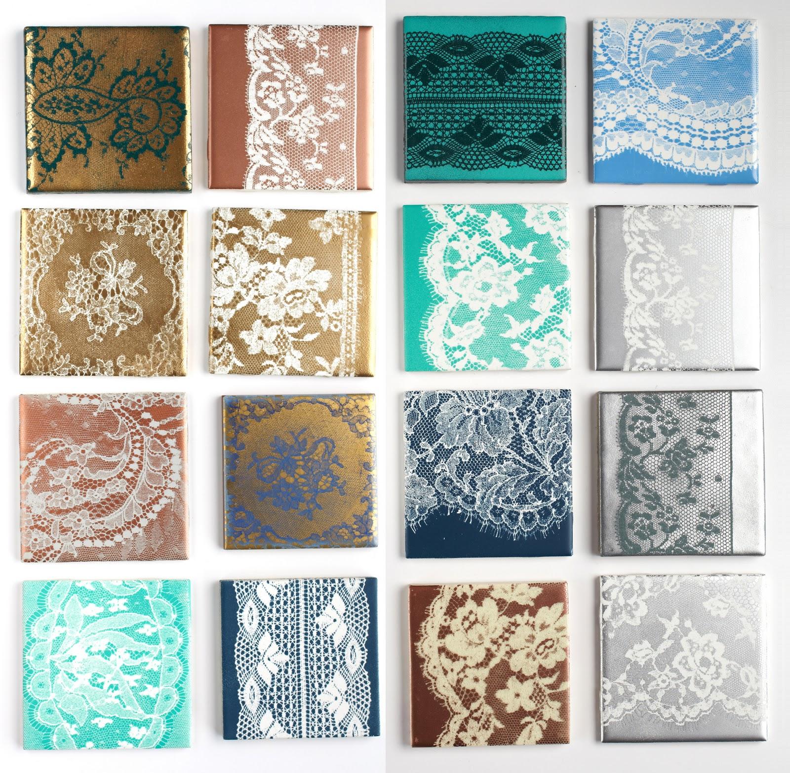 vintage pretty: Lace Tiles
