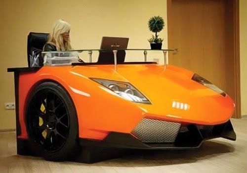 Foto Unik meja kantor Berbentuk Mobil Sport