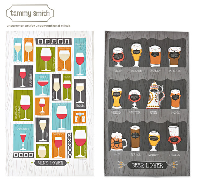 Wine Dish towel, Beer Dish towel