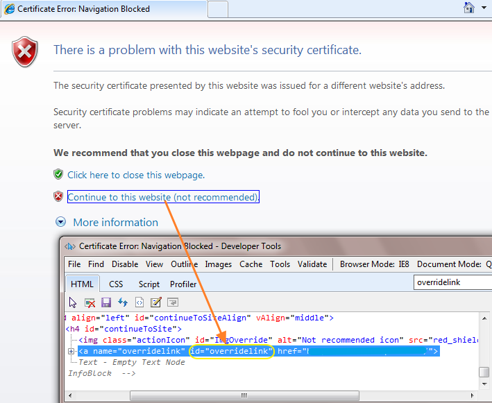 How To Handle Ssl Certificate Error In Ie Browser For Selenium