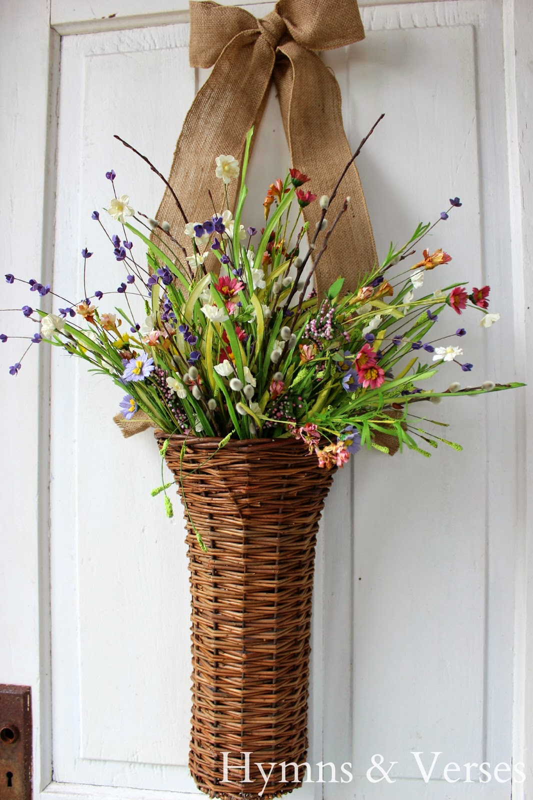 Hymns And Verses Front Door Spring Basket