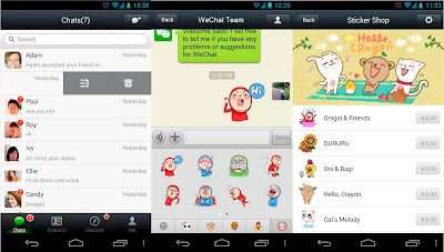wechat android mensajeria