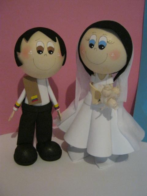 Fofuchas de boda patrones - Imagui