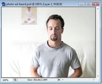 Tutorial Cara Simple Membuat Kumis dan Janggut Menggunakan Photoshop Cs3