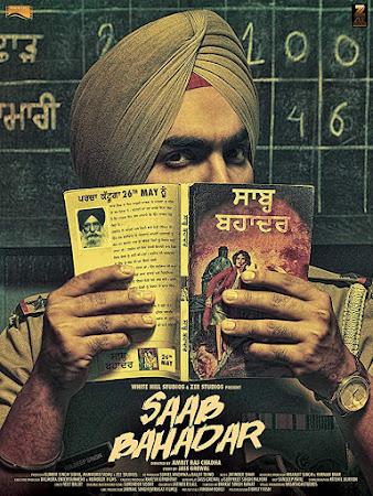 Poster Of Pollywood Movie Saab Bahadar 2017 300MB HDRip 480P Full Punjabi Movie