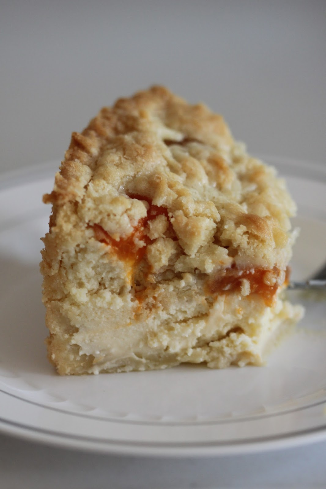 Apricot Cheesecake with Crumb Topping | Tortillas and Honey