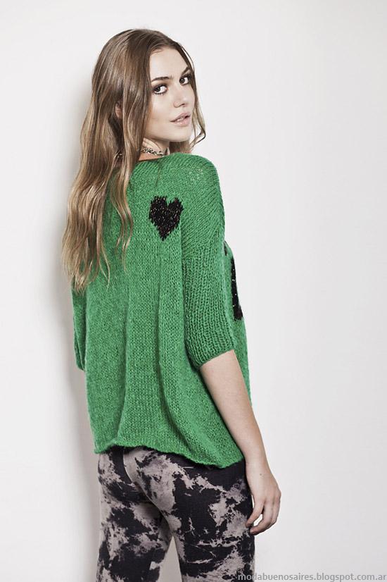 Florencia Llompart colección otoño invierno 2014. Moda tejidos invierno 2014.