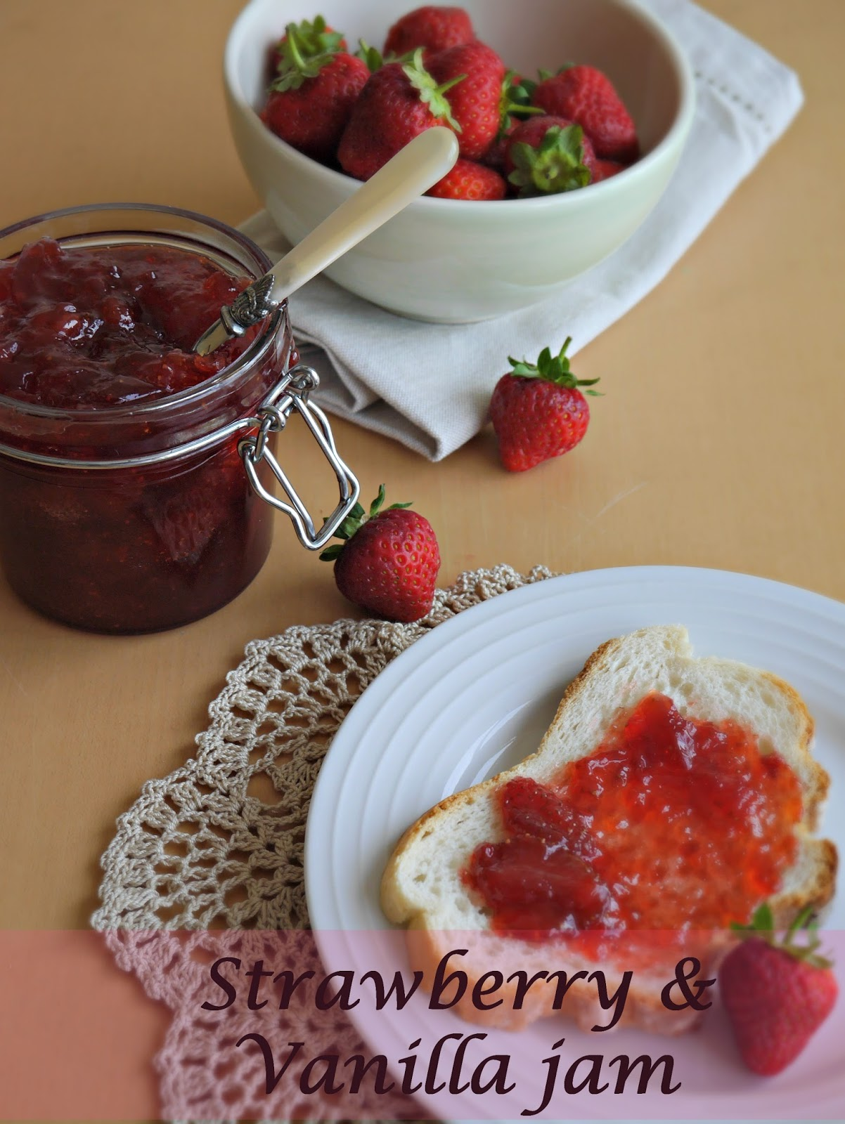 How to make Strawberry & vanilla jam :: Little Apple Tree blog