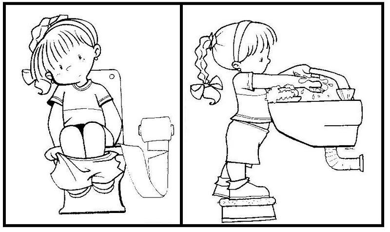 Baño Ninos Frecuencia:Fichas Infantiles: Fichas de higiene para niños
