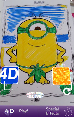 The minions crayola colour alive minions this is life for Crayola color alive coloring pages
