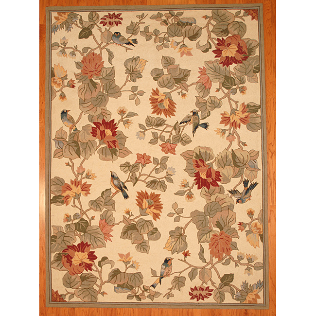 Copy Cat Chic Pottery Barn Bird Floral Rug