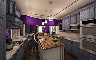Greg hickman designs federal row style kitchen for Federal style kitchen