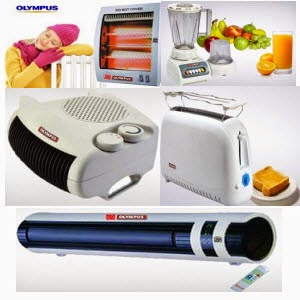 Groupon: Buy Olympus Appliances Room Heater Champ 2 Rs. 599, Fan Heater Rs. 999, Mixer Grinder Rs. 899, 2 Slice Pop-Up Toaster Rs. 699