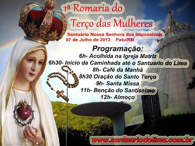 I Romaria do Terço das Mulheres ao Santuário do Lima