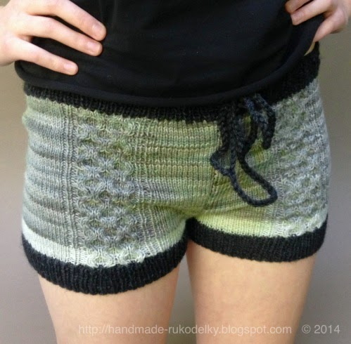 HAND MADE - RUKODELKY: Knitted Shorts With Cable Design - Free Pattern