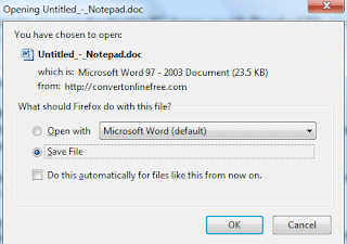 Convert PDF to DOC dan PDF to DOCX Dengan Convertonlinefree
