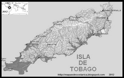 Isla TOBAGO, TRINIDAD Y TOBAGO, blanco y negro