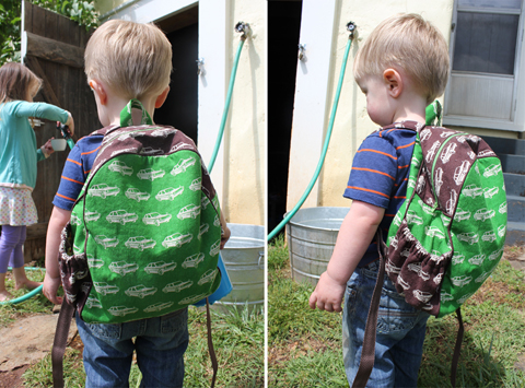 crozette: Echino Cars Toddler Backpack